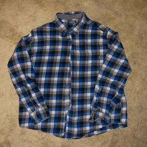 EUC Eddie Bauer Plaid Flannel Shirt size XL